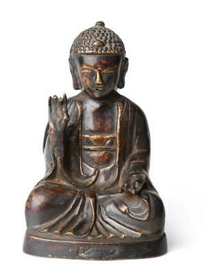 Ming Dynasty Chinese Antique Bronze Seated Buddha Ming 18cm