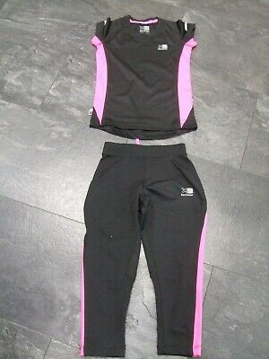 Karrimor Activewear Top & Bottoms Age 7/8 Good Condition