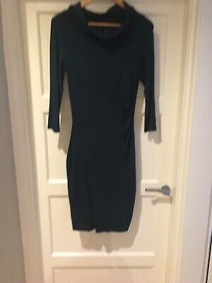 PHASE EIGHT New Sparkly Dark Green Knitted Bodycon Party Evening Dress Sz 8-18