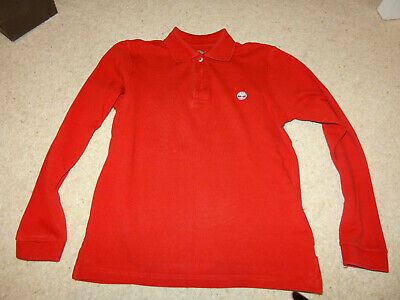 Boys Timberland Long Sleve Polo Top Age 10 138cm