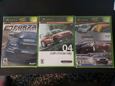 Forza Motorsport, Drive for Life, Colin Mcrae Rally 04 Microsoft Xbox New Sealed