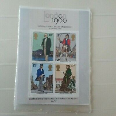1979 death centenary of Sir Rowland Hill MNH - SG MS1099 with original info shee