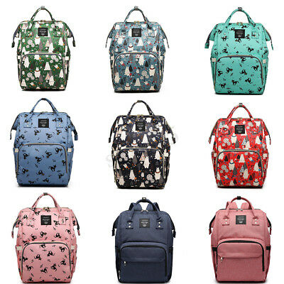 LEQUEEN Mummy Backpack Large Maternity Baby Nappy Diaper Bag Travel Rucksack New
