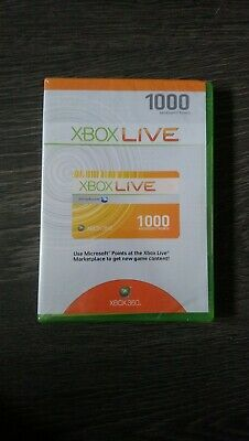 Sealed Xbox Live 1000 Microsoft Points (Xbox 360)