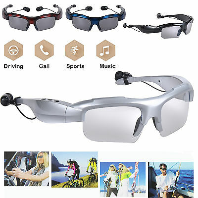 Bluetooth Sunglasses Glasses Headphone Wireless Stereo Music Outdoor Smart X4D9
