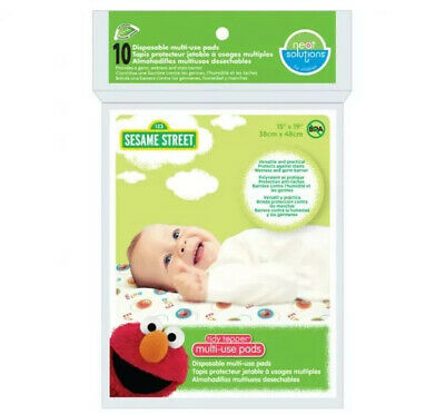 """Tidy Topper Multi-Use Pads 15""""x19"""" 10ct BPA-Free Disposable Changing Pads/Covers"""