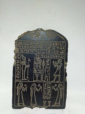 RARE ANTIQUE ANCIENT EGYPTIAN Stela Book of Dead Holy Word God Osiris 1860 Bc