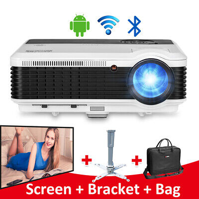 7500:1 HD Smart Android Bluetooth Projector Home Theater for Youtube APPS HDMI