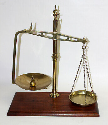 Antique Brass Medical Scales by Degrave & Co. Circa 1900