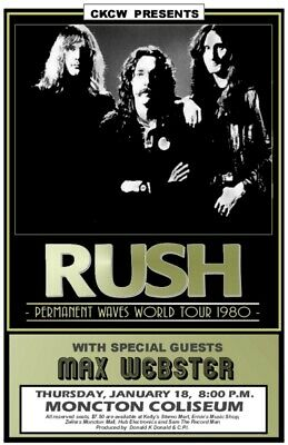 Rush concert posters geddy, peart, lifeson tour  you choose!