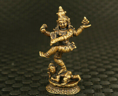 old chinese bronze hand casting comedy tibet buddha statue decorate collectable