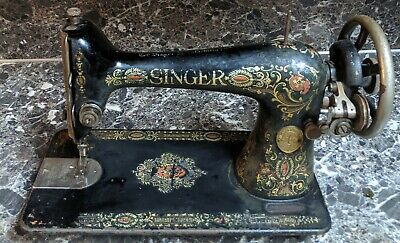 Antique Singer Model 66 Red Eye Sewing Machine 1911 Treadle