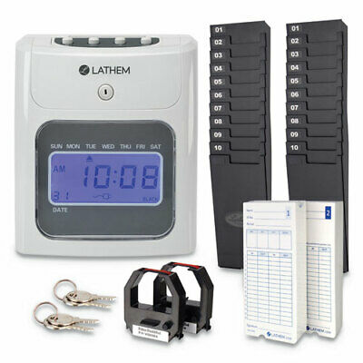400E Top-Feed Time Clock Bundle, White