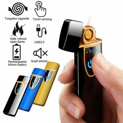 New USB Rechargeable Cigarette Lighter Metal Smart Double Side Tungsten Lighter