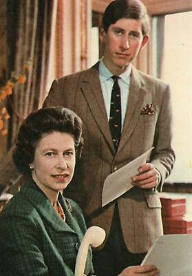 Vintage The Queen & Prince Charles Postcard - Unused - Excellent