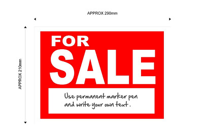 For Sale Sign with space for your own words..A4 Size Self Adhesive Vinyle