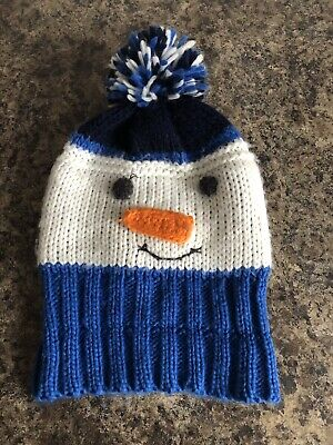 Snowman Wooly Bobble Hat Unisex 2-4 Years Christmas Theme Unwanted