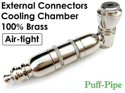 Metal Tobacco Smoking Pipe Solid Brass Bowl Chamber Sneak A Toke Hand Herb Pipes