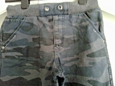 Boys Camouflage Jeans Grey - Age 9-10Years Pull On Elasticated Waist 100% Cotton
