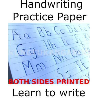 Handwriting Practice Paper Sheets Primary School Alphabet KS1 Writing Aid Lined