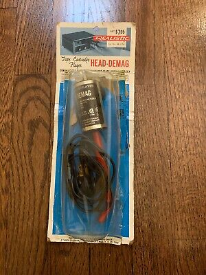 REALISTIC Radio Shack Cassette Head Reel Video Tape Deck Demagnetizer 44-1154