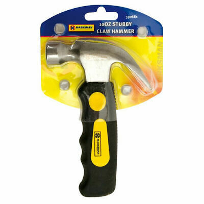 Mini Claw Hammer Stubby 10oz Magnetic Head Soft Grip Nail Puller Finger TE831