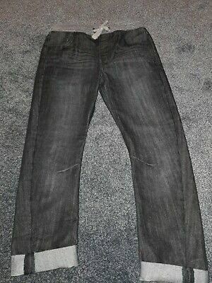 Boys Black M&S Elasticated Waist Jeans 9-10 Years