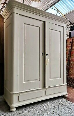 A Beautiful 19Th Century French Painted  Armoire/Hanging Cupboard
