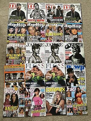 Lot Of 20 Hip Hop Magazine's XXL, J'Adore, Floss, Juicy, Complex, Source