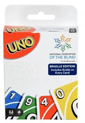 UNO Braille Edition Card Game Mattel New In Package - FREE Shipping