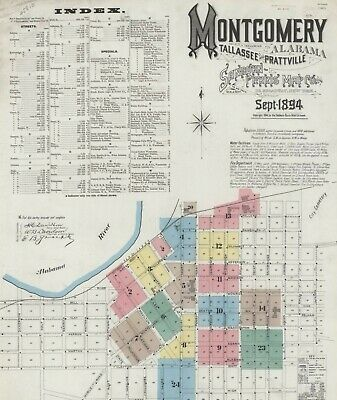 Montogmery, Alabama Sanborn Map© sheets made in 1894~~with 24 maps on a CD