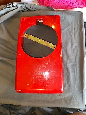 Vintage RED Rotary Dial Wall Telephone Housing ITT Bell Case Cover Plastic