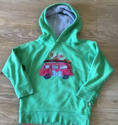 Frugi Boys Green Campervan Hoody Sweatshirt Top Organic Cotton - Age 3-4 Years