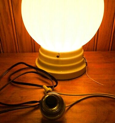 Vintage Rotary Light Switch, Brass/Porcelain Round Single-Pole Turn, Perkins
