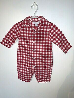 Stunning Baby Girls Gingham Romper From Little White Company, 0-3M, Excellent