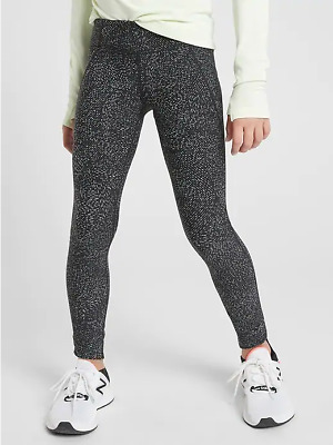 NEW Athleta Girl XXL 16 Black Run With It Tights Pants