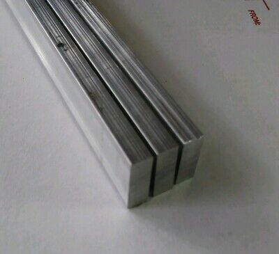 "3 pc 1/4 X 3/4"" X 12"" long new 6061 T6 solid aluminum plate flat stock bar block"