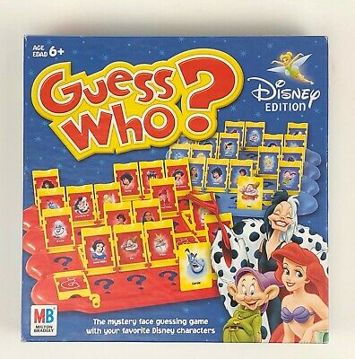Guess Who? Disney Edition Milton Bradley Ages 6+ 2 players 2005 characters