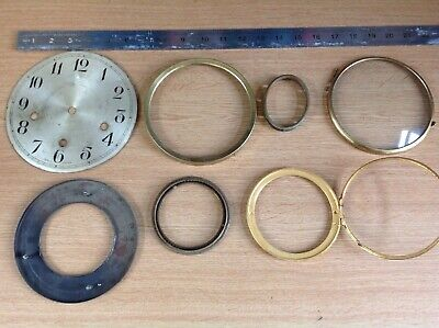 Antique Clock Dial Face Bezels Glass Ex Clockmakers Spare Parts