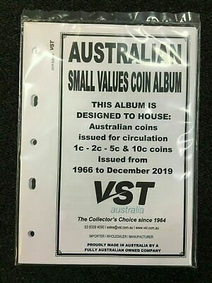 2019 VST Australian Small Coin Albums Supplement Pages