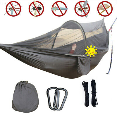 Double Person Travel Outdoor Camping Tent Hanging Hammock Bed W/ Mosquito