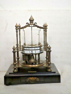 Fabulous Flying Pendulum French Style Brass Clock With Glass Dome