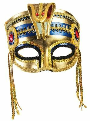 Ladies Egyptian Mask With Eyeglass Frame Cleopatra Costume Mask 71143