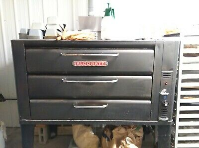Blodgett 981 Propane/Natural Gas Double Pizza Deck Oven With Stones Bake