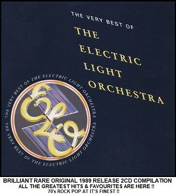 ELO - The Very Best Greatest Hits Compilation RARE 1989 70's Pop 2CD Jeff Lynne