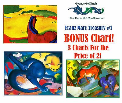 Franz Marc/'s Sketch of 2 Foxes Counted Cross Stitch Chart Pattern