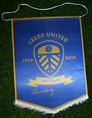 Centenary Collection David Harvey Leeds Hand Signed Pennant Autograph United 2