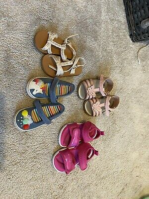 Girls Next & Mothercare, Infant Size 4 Sandals 4 Pairs