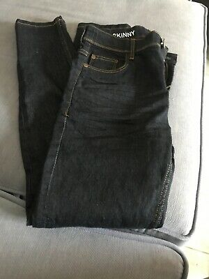 Boys NEXT Dark Blue Super Skinny Jeans Age 12 Slim With Adjustable Waist VGC