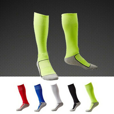New Kids Football Socks Rugby Hockey Sports Soccer Plain Long Socks 8 -13 years